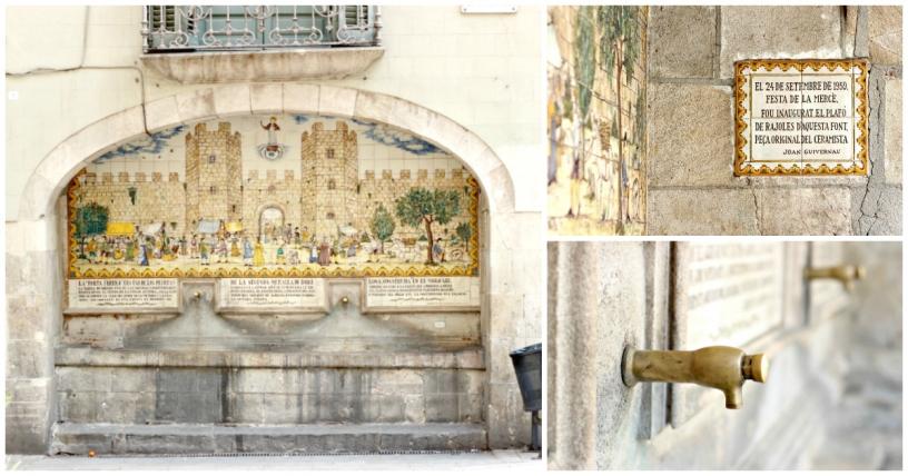 Images de la fontaine de Portaferrissa
