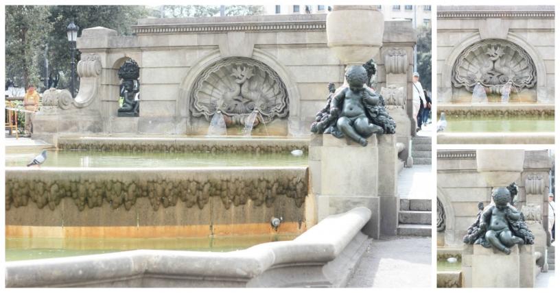 Fountain of Six Putti in placa catalunya