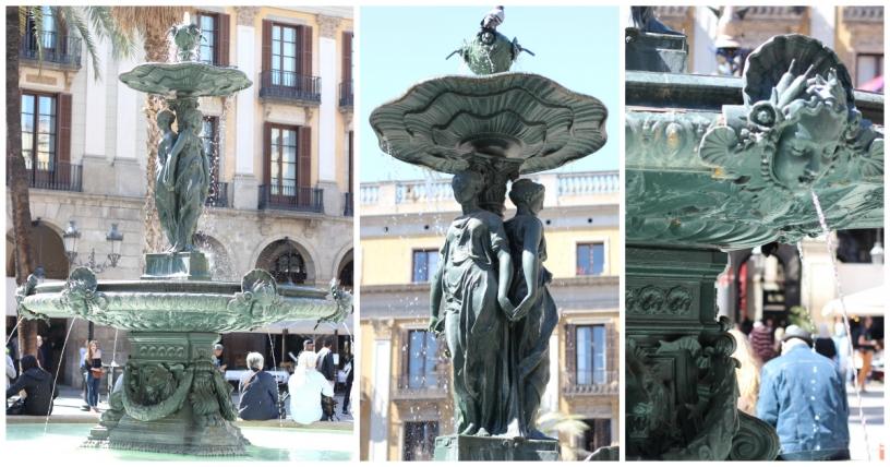 Fontana delle tre grazie a Barcellona