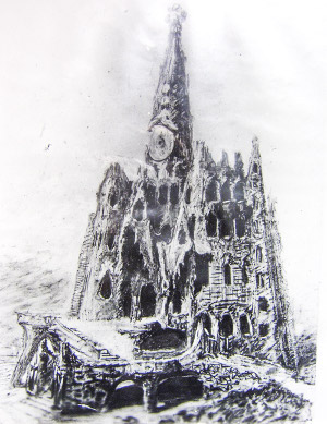 How the church in Colonia Güell would have looked if it were completed.