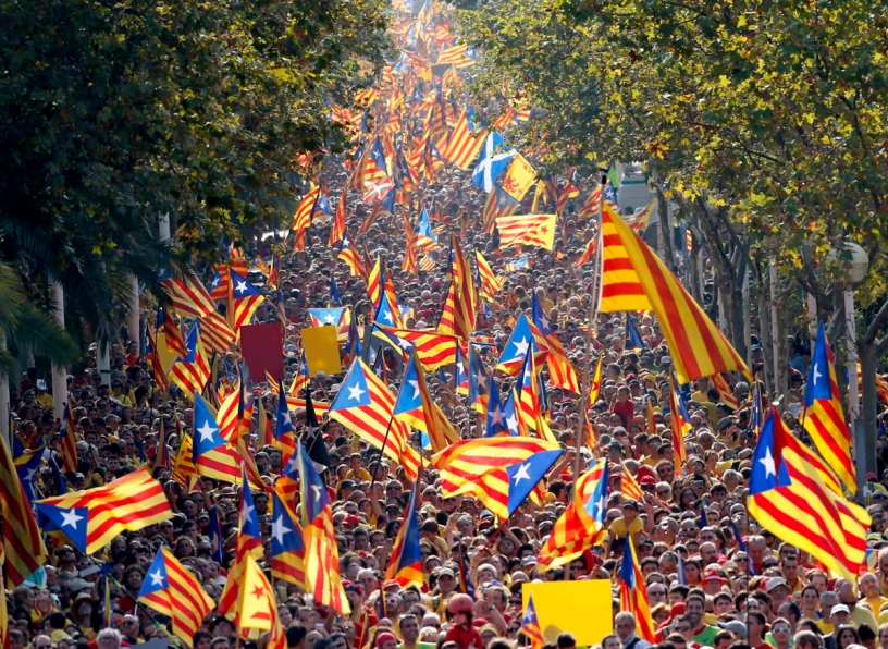National Day of Catalonia Manifestations