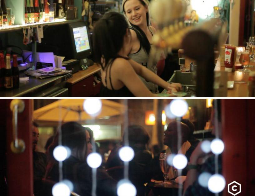 Eine belgische Bar