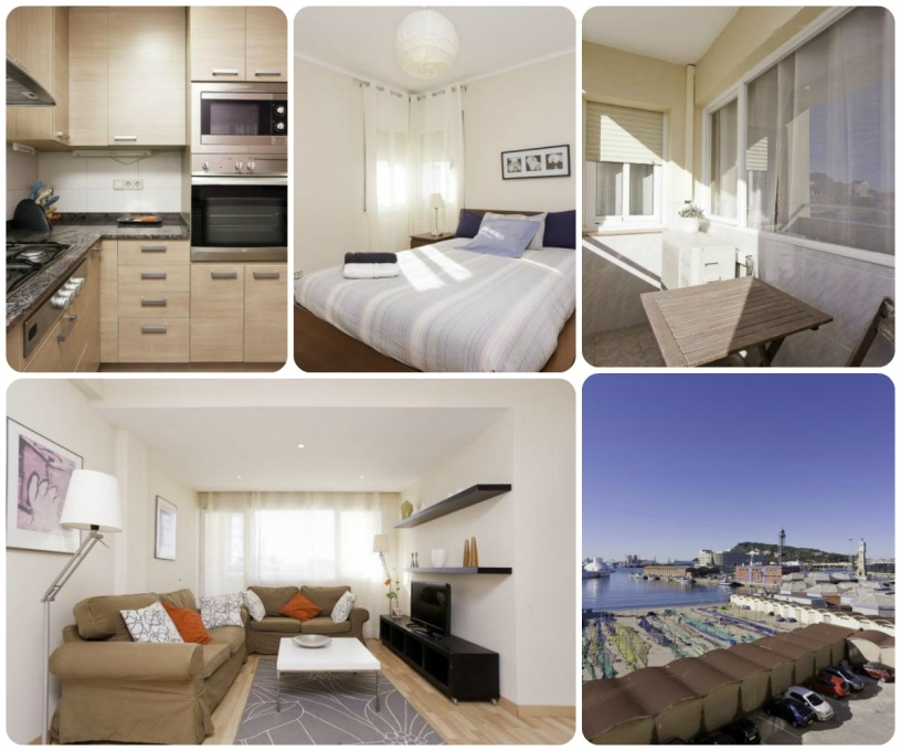Monthly rental by Barceloneta beach and Port vell