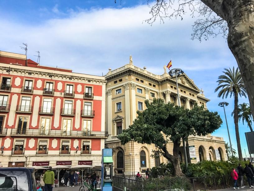 Buildings Rambla Barcelona