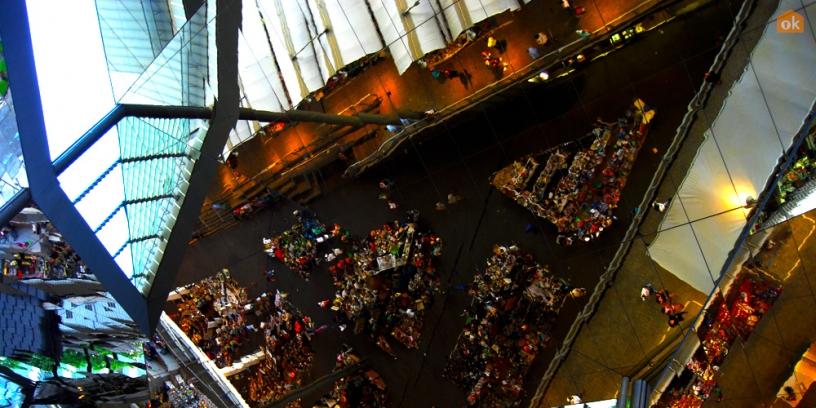 El techo del mercado Encants de Barcelona