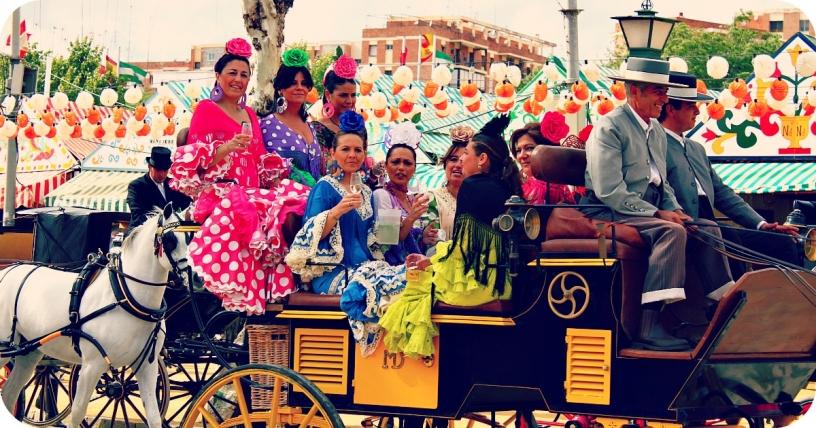 Kalesche bei der Feria de Abril