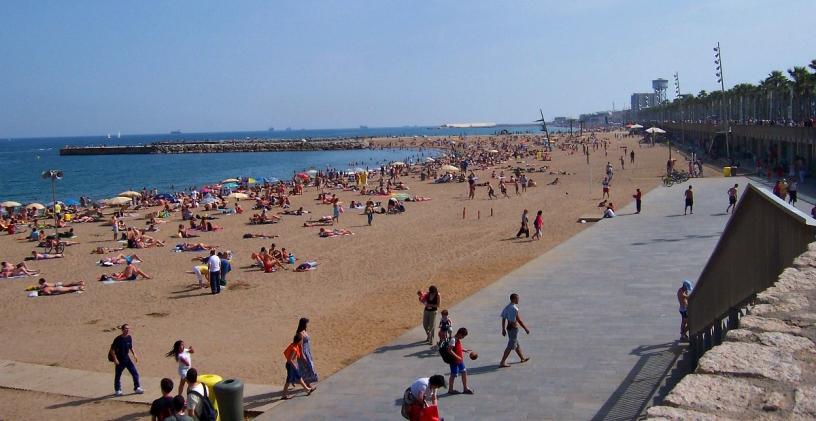 Llevant Strand in Barcelona