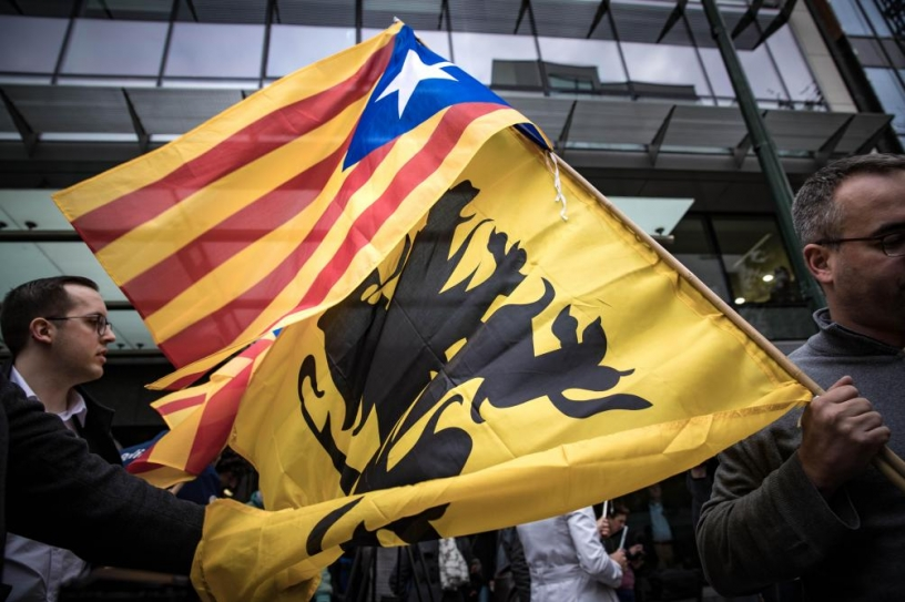 Flemish nationalists have lent their support to Catalonia
