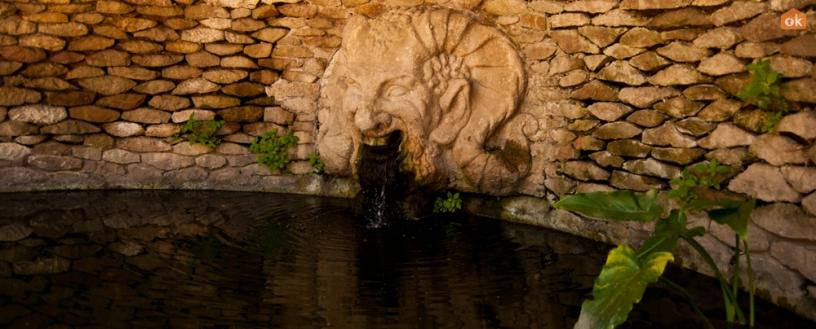 Fuente en el Jardín del Aribal