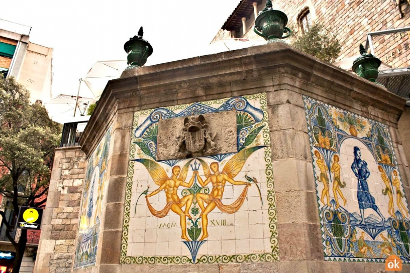 Santa Anna Fountain Barcelona