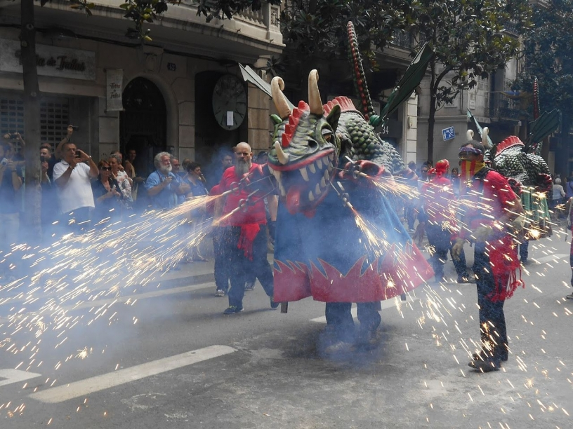 Gracia Dragón at the Correfoc