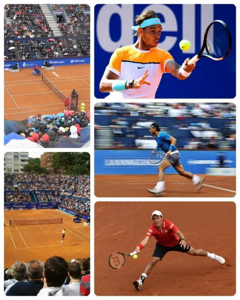 Match between Nadal and Nishikori