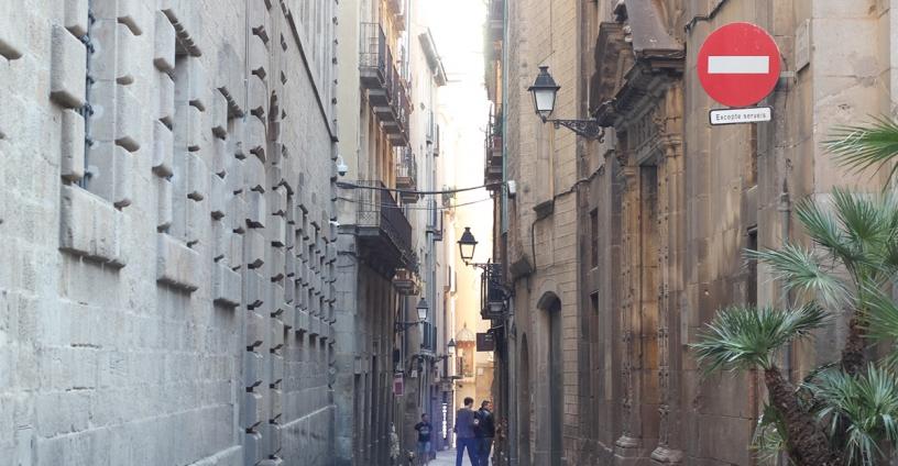 Via del Barrio Gótico di Barcellona