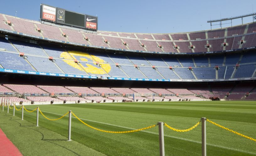 View from the side of the pitch