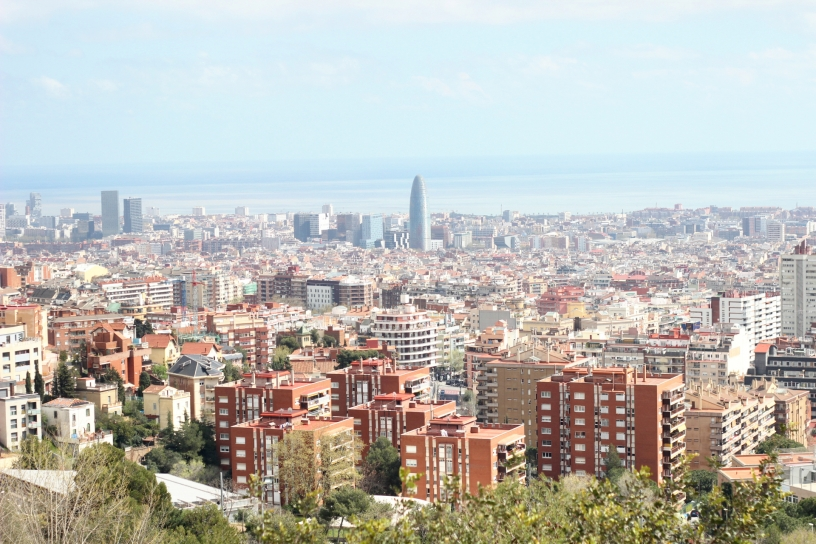 View over Barcelona from Park Güell