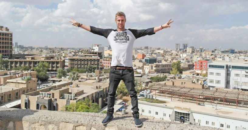 Johnny Ward travels in Iraq