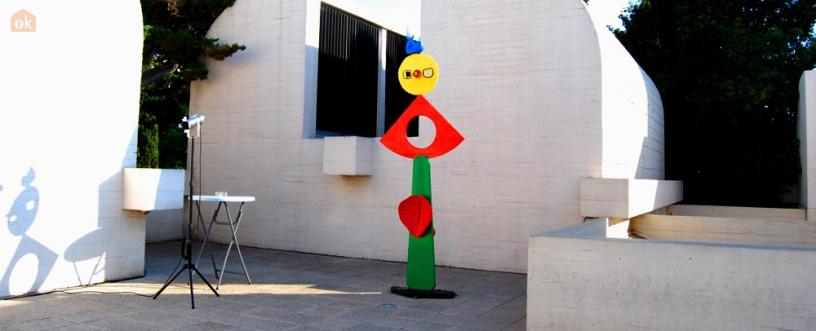 Escultura en Funsación Miró