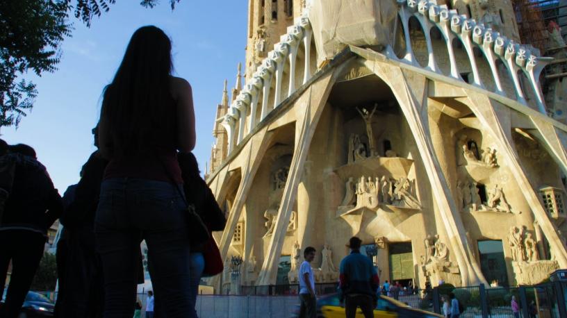 Faada Męki Sagrada Familia Barcelona
