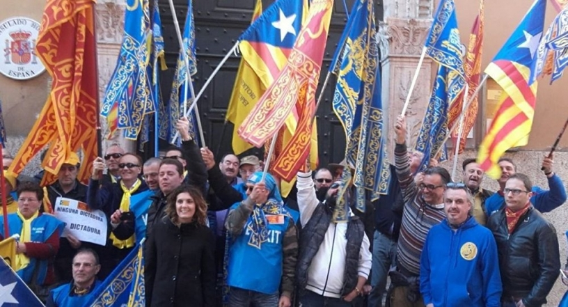 Demonstration in Verona shortly before the organisation of the referendum