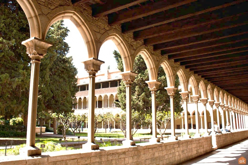 The cloister Pedralbes Barcelona