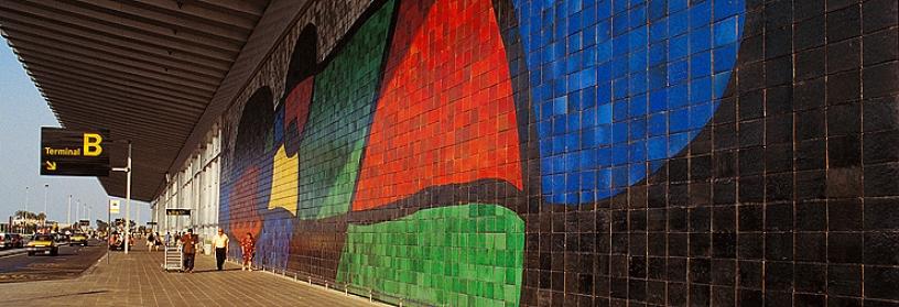 Mosaico Miro en El Prat