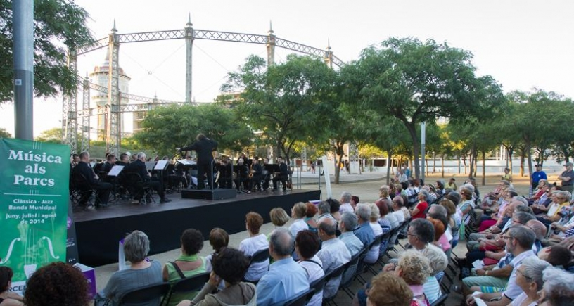 Música als parcs et le public