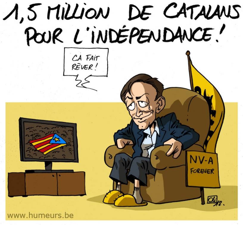 Caricature par rapport aux Flamands enviant les Catalans
