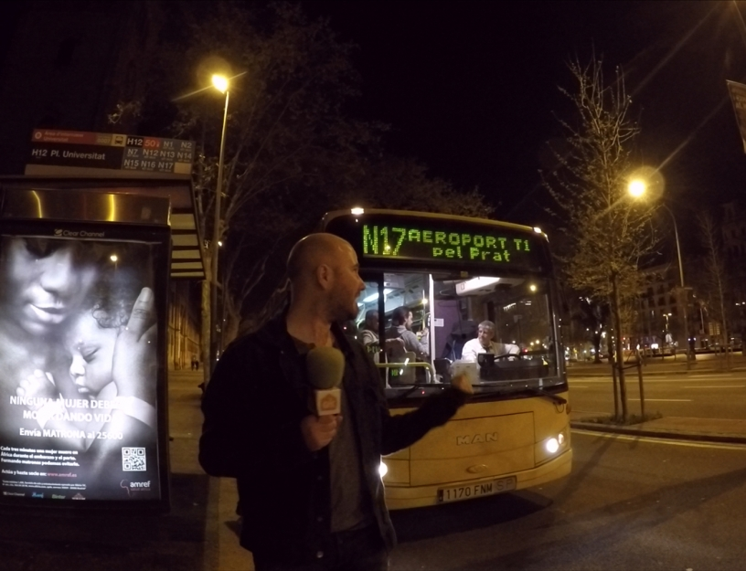 Nightbus N17 in Barcelona
