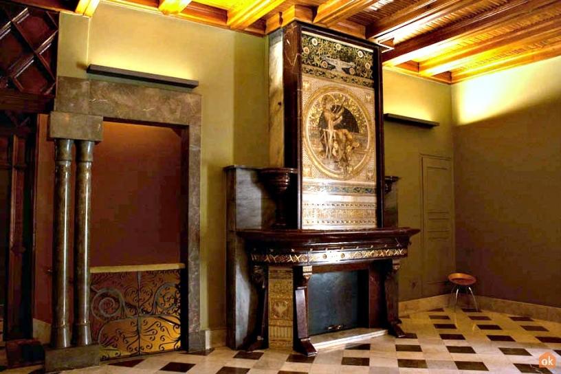 Sala de la Confianza Palau Güell Barcelona