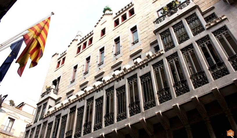 Fasad av Palau Güell Barcelona