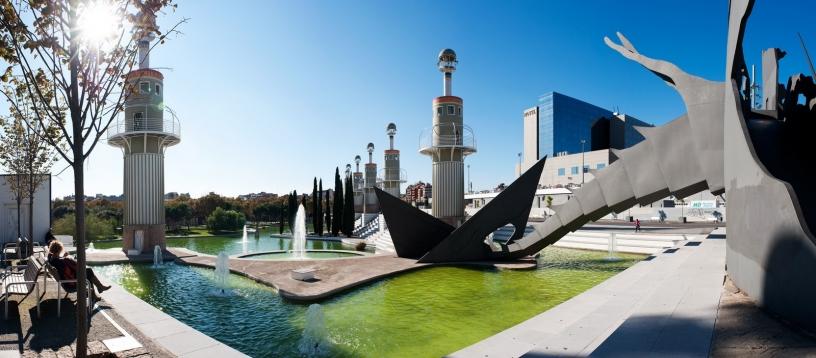 Parc de l'Espanya industrial im Sants Viertel, Barcelona