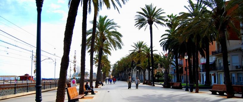 Die Strandpromenade, Badalona