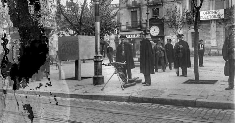 Old ghost photos in Barcelona