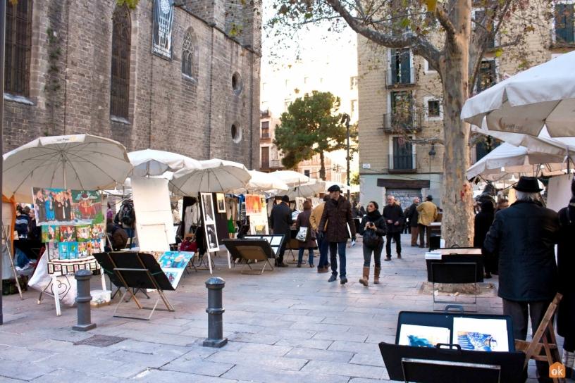 Plaza de Sant Josep Oriol, Barcellona