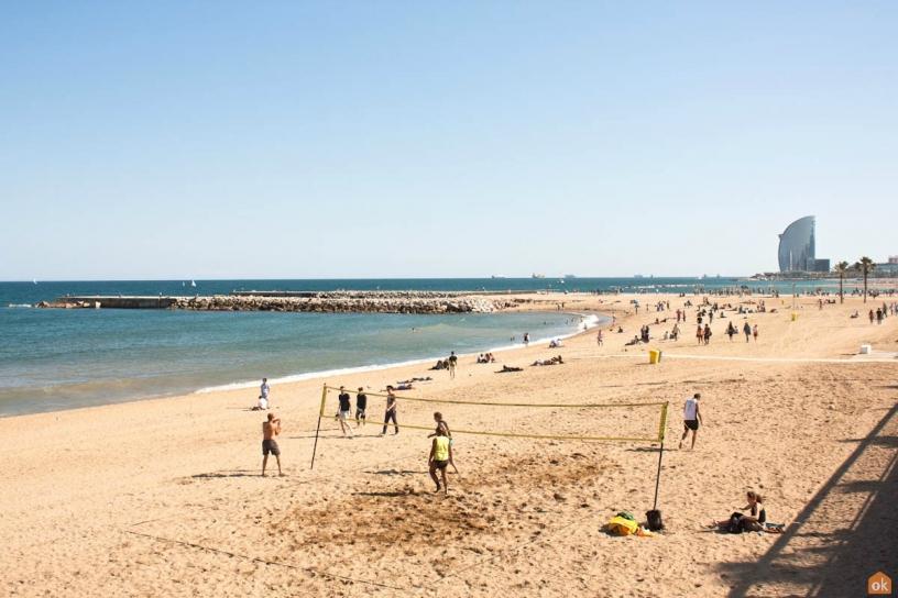 пляж Barceloneta