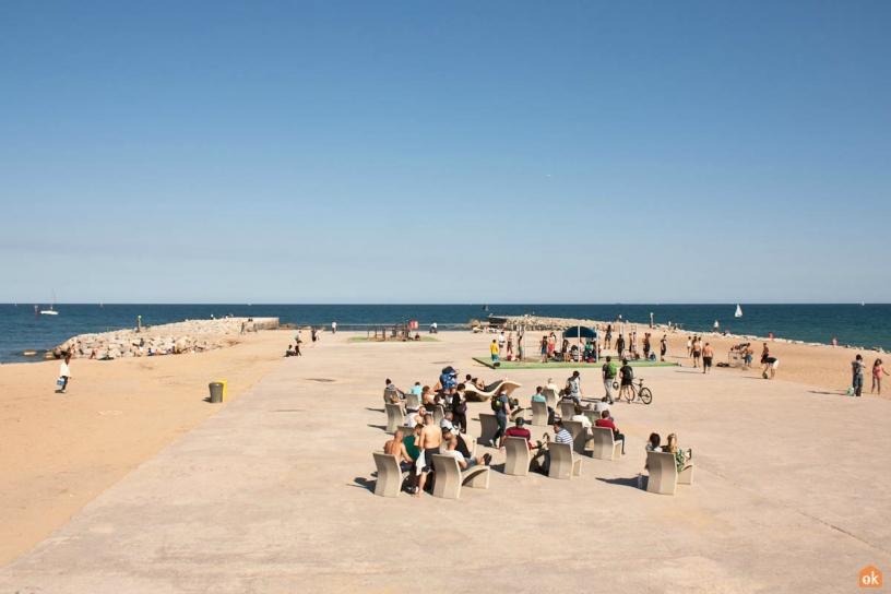 пляж Barceloneta 2