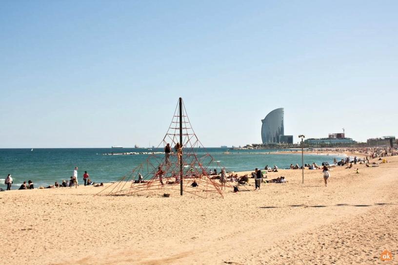 пляж Barceloneta 3