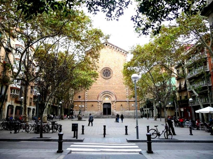 Площадь Virreina Barcelona