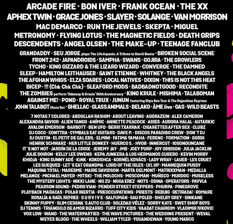 Primavera Sound 2017 Line-up poster