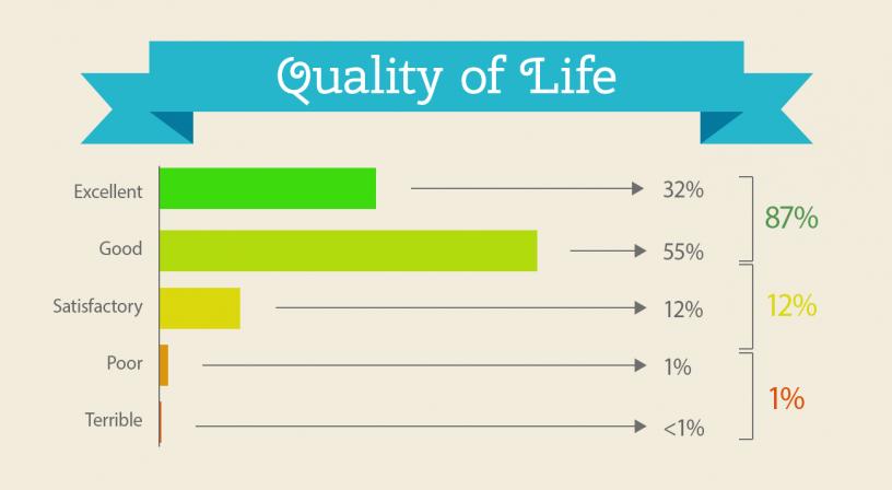 Infografia resultados encuesta: la Calidad de vida en Barcelona