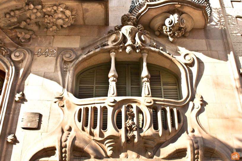 Detalj på Casa Comalat i Barcelona