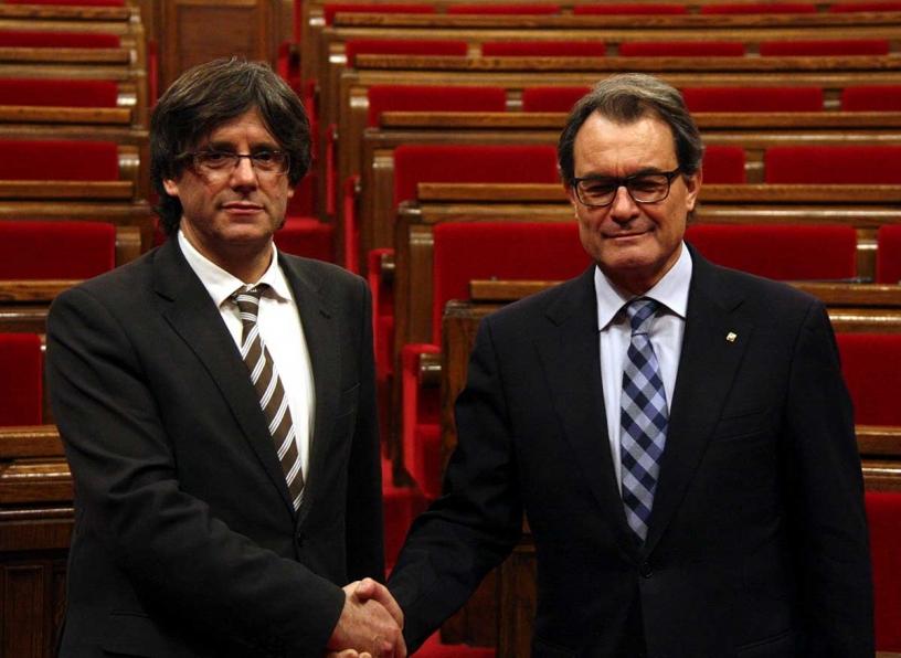 Puigdemont e Artur Mas