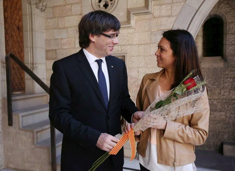 Puigdemont i Marcela Topor