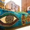 La decoración de las calles del Raval