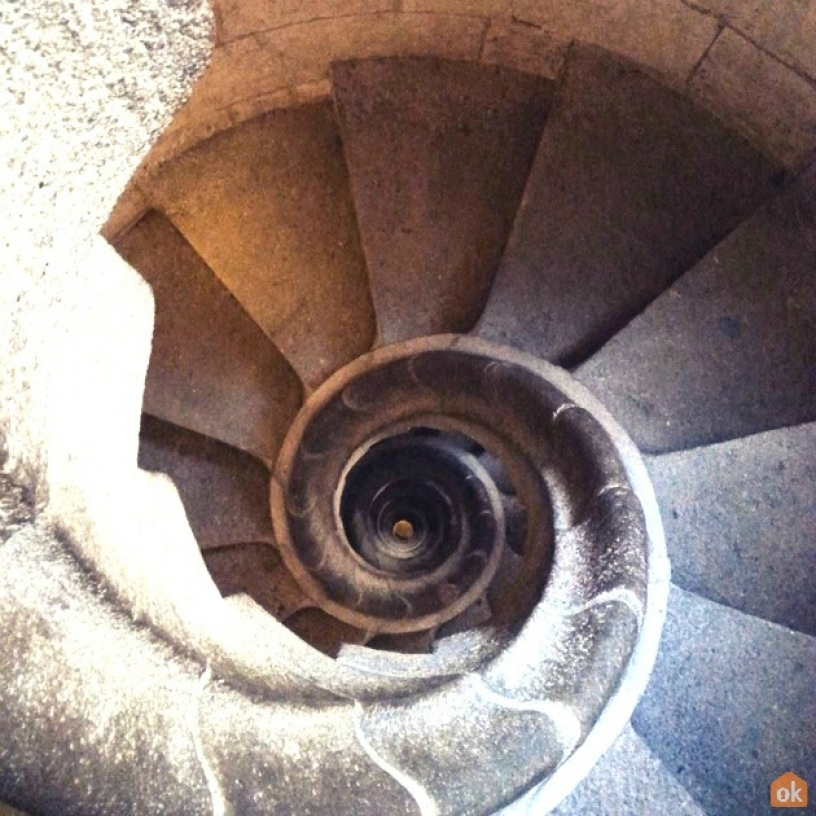 scala a chiocciola Sagrada Familia
