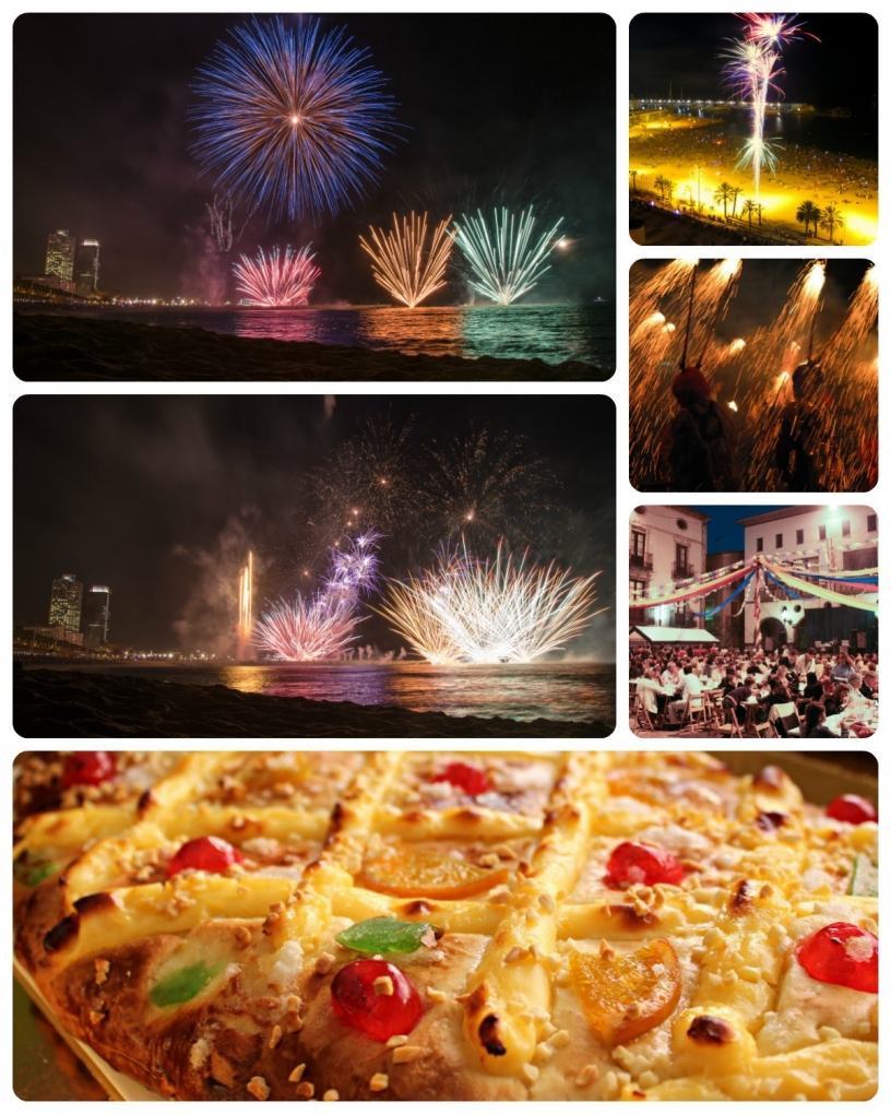 Sant Joan celebrations in Barcelona: bonfires, fireworks, feasts, and more.