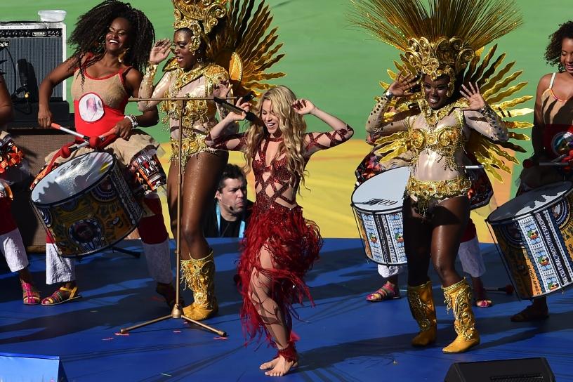 Shakira performing