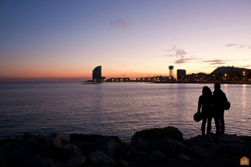 Sunset from Barceloneta