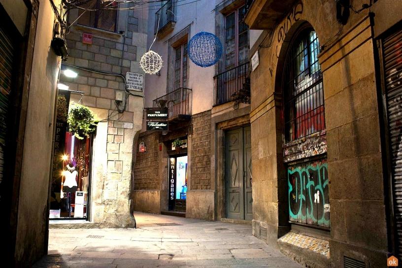 Gasse Barrio Gotico Barcelona