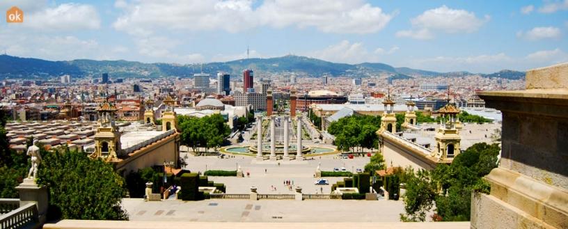 Vista de Plaza España en Barcelona